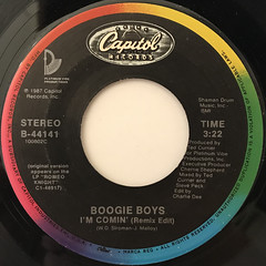 BOOGIE BOYS:I'M COMIN'(LABEL SIDE-A)