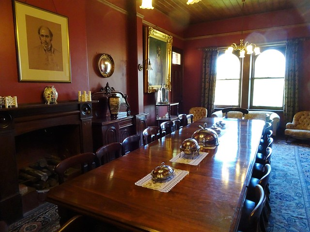 Beaumont Adelaide. Dining room of Beaumont House built in 1851 for Anglican Bishop Augustus Short. His portrait hangs over the fireplace.