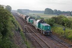 BB 60077 & 60064 quitte Flamboin pour Beauchery. - Photo of Grisy-sur-Seine