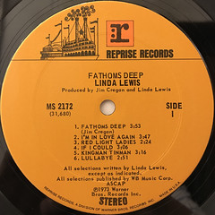 LINDA LEWIS:FATHOMS DEEP(LABEL SIDE-A)