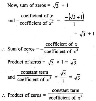 RD Sharma Class 10 Solution Chapter 2 Polynomials