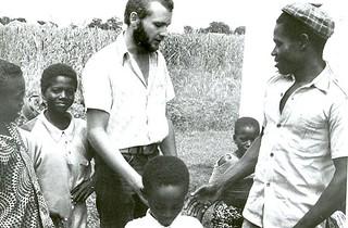 Peter Rupp with friends Ghana 1978