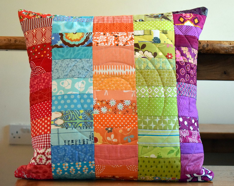 Scrappy Stacked Coins Cushion