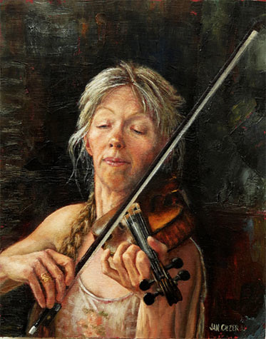 Calling Up the Tunes. Artist Jan Clizer