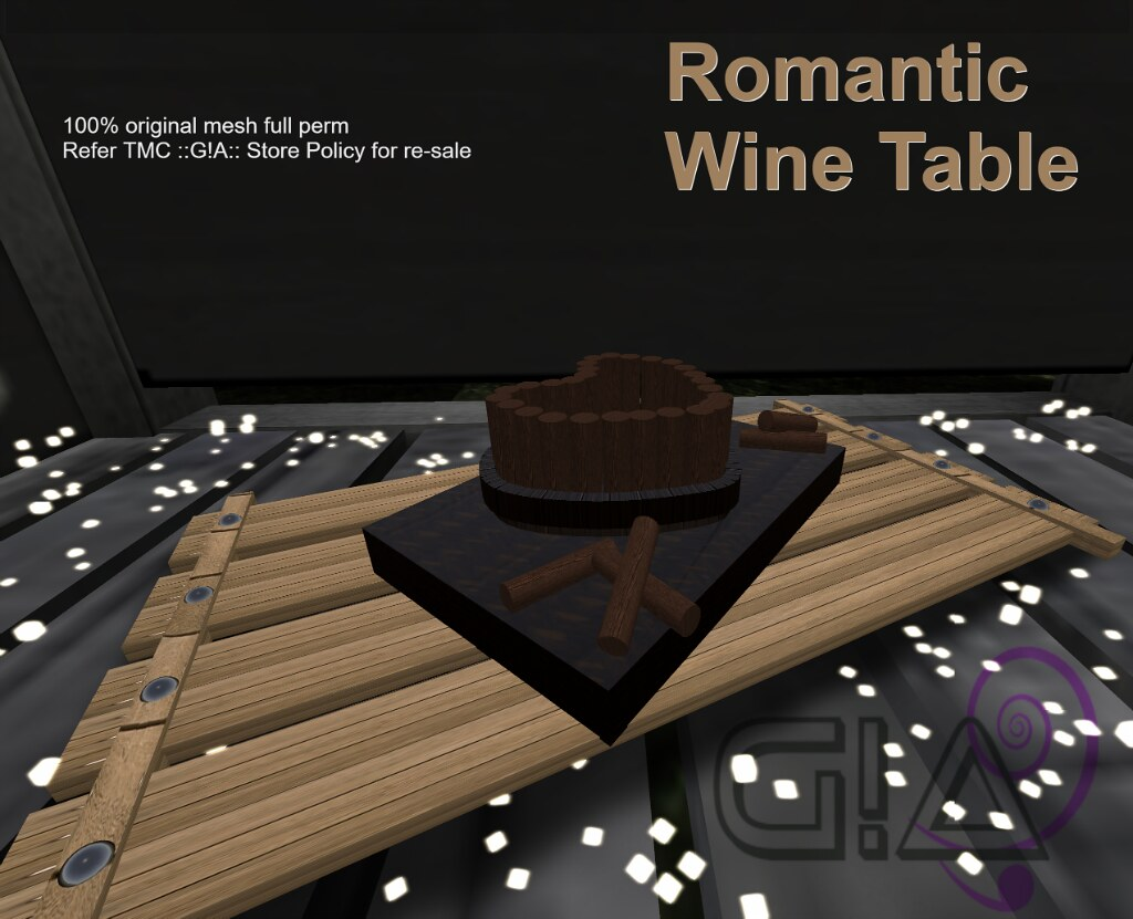 Gothic Fair wine table