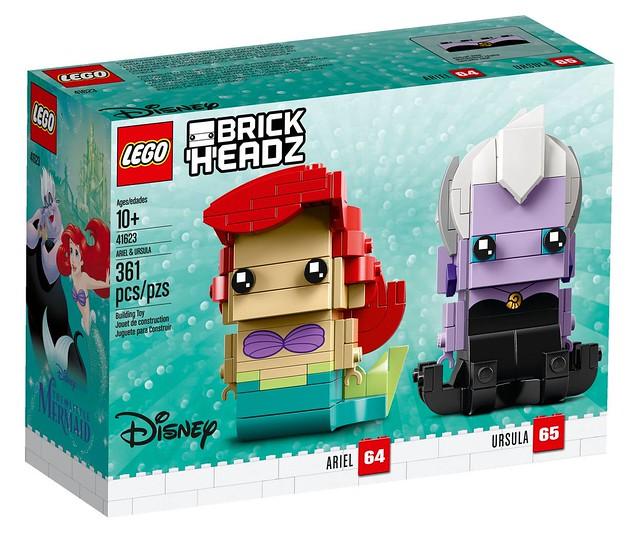 烏蘇拉的章魚腳份量十足,連眼影都完美呈現實在太強啦!! LEGO 41623 Brickheadz 系列《小美人魚》愛麗兒&烏蘇拉 Ariel & Ursula