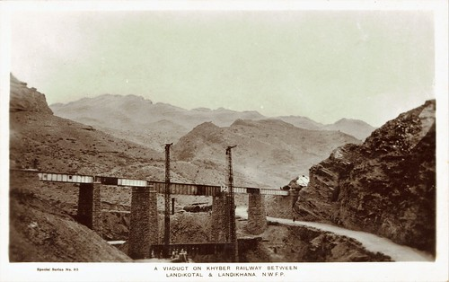 Pakistan Railways - North Western Railway of Pakistan - Khyber Pass - The railway between Landikotal & Landikhana (vintage postcard)