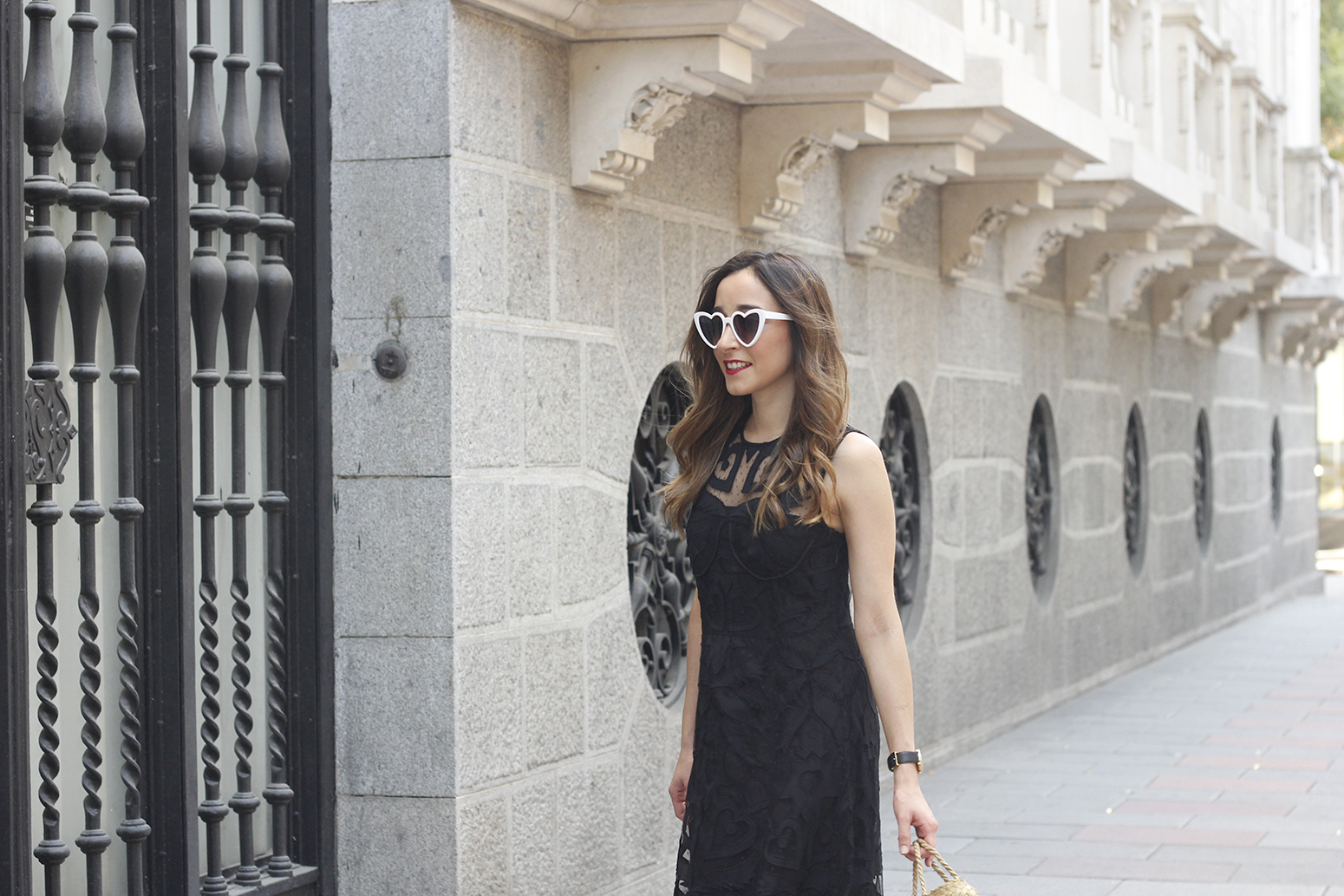 black lace maxi dress summer outfit 2018 06