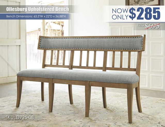 Ollesburg Upholstered Bench_D725-08