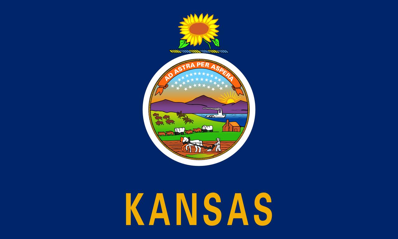 Kansas State Flag, adopted on September 22, 1961
