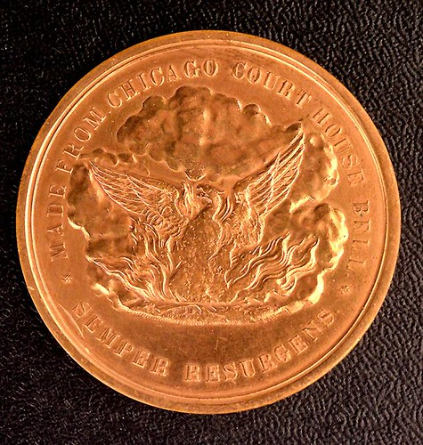 1871 Chicago Fire Medal obverse