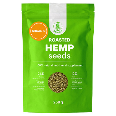 Ramans Roasted Hemp Seeds