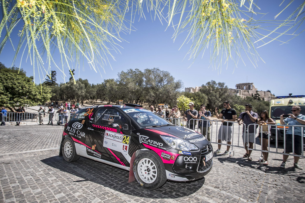 24 FALCON Emma (esp), GONZALES DELGADO Eduardo (esp), Citroen DS3 R3T, action during the European Rally Championship 2018 - Acropolis Rally Of Grece, June 1 to 3 at Lamia - Photo Gregory Lenormand / DPPI