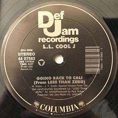 L.L. COOL J:GOING BACK TO CALI(LABEL SIDE-A)