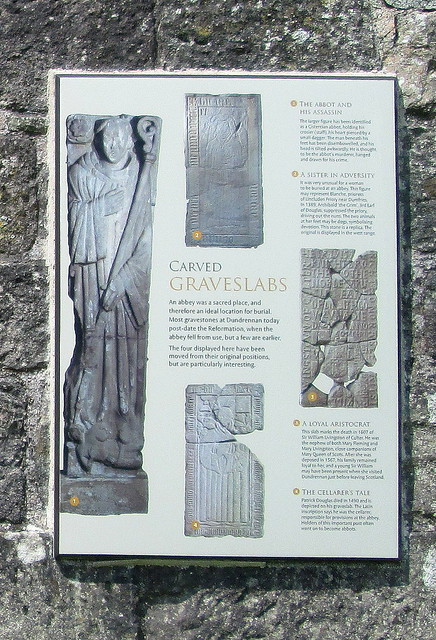 Dundrennan Abbey Carved Stone info board
