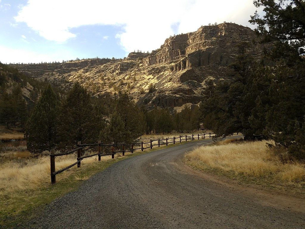 Evening at Lone Pine Campground on the Lower Crooked River Back Country Byway