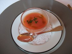 CHATEAU D'ETOGES, MENU GOURMANDE, GAZPACHO 003 - Photo of Beaunay