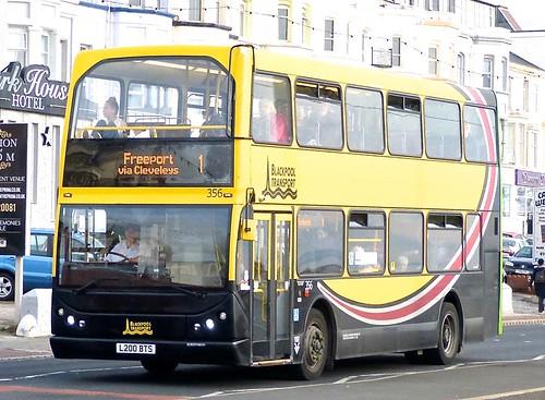 L200 BTS 'Blackpool Transport' No. 356. DAF DB250 / East Lancs. Myllenium on 'Dennis Basford's railsroadsrunways.blogspot.co.uk'