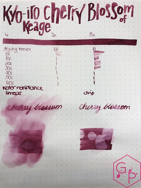 Kyo-Iro Cherry Blossoms of Keage Ink Review @PhidonPens 8