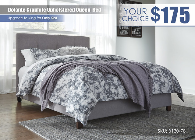 Dolante Graphite Upholstered Bed_B130-781_Special