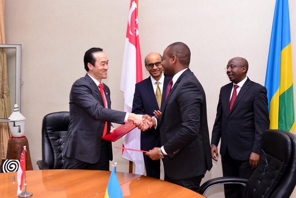 14 June 2018 -The signing of agreements between Rwanda and Singapore on Bilateral air service and Promotion & protection of investments