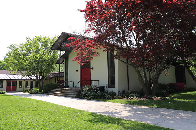 church in spring 2