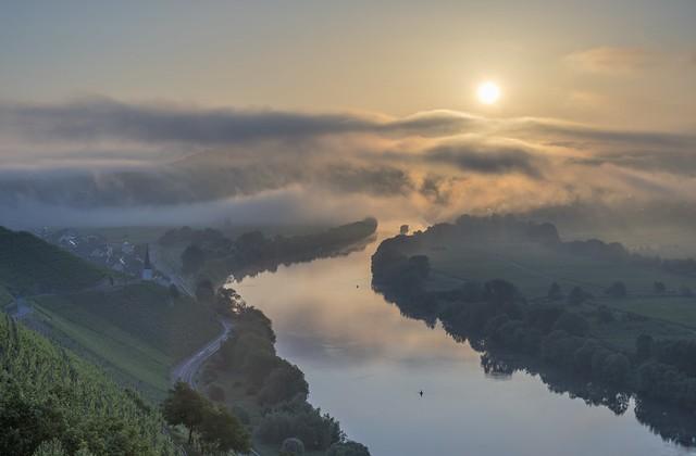 *Sunrise on the Moselle*