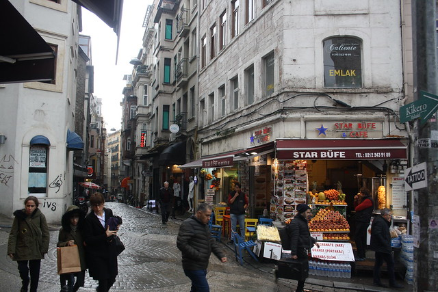 Galata District Street Scene
