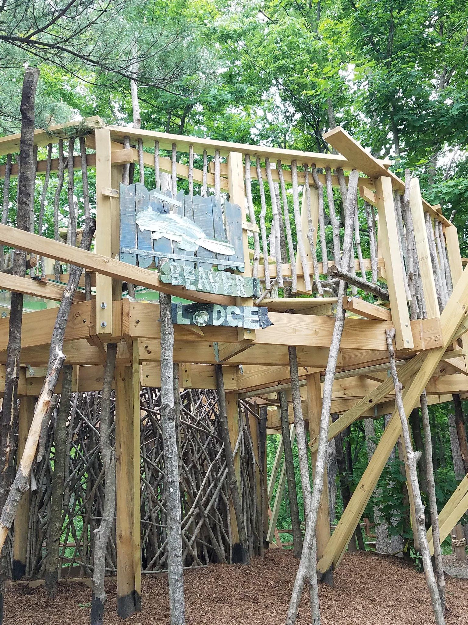 Harris Nature Center Opens Beaver Lodge Playground