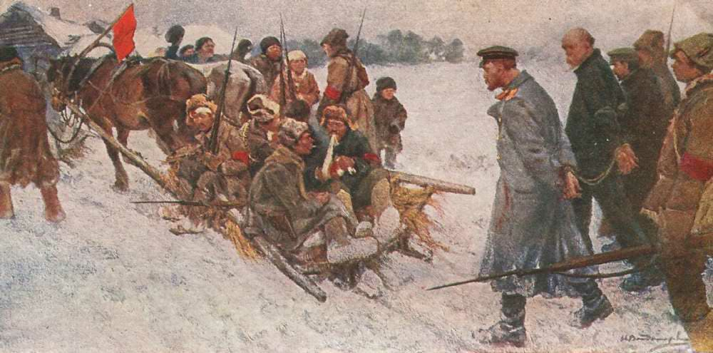 俄国内战与革命的写实绘画10