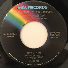 STEELY DAN:FM(NO STATIC AT ALL)(LABEL SIDE-B)