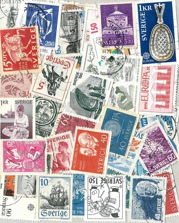 Známky 51 ks rôznych pamätných, Švédsko