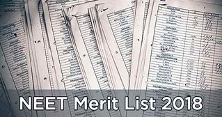 NEET Merit List 2018