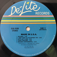 MADE IN USA:MADE IN USA(LABEL SIDE-B)