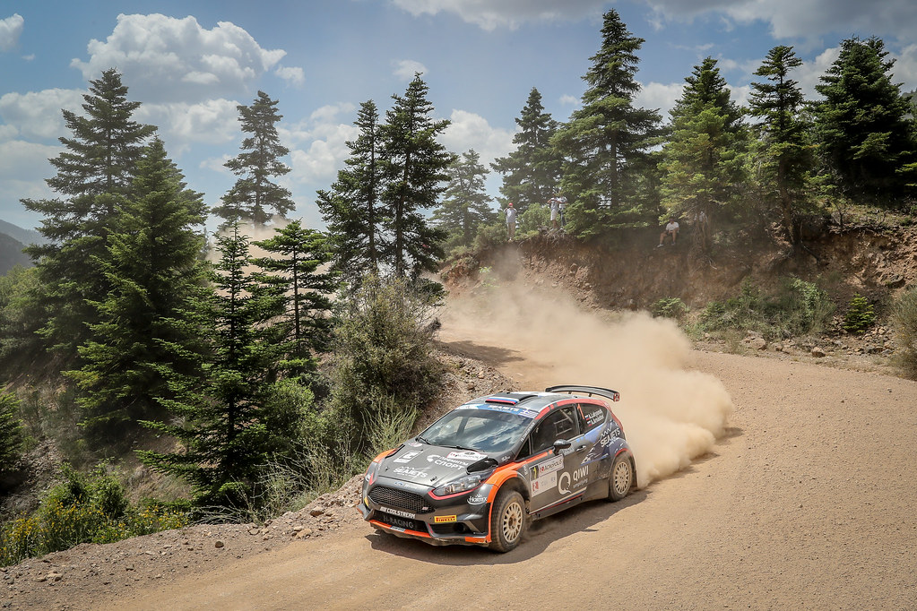 01 LUKYANUK Alexey (rus), ARNAUTOV Alexey (rus), Russian Performance Motorsport, FORD FIESTA R5, action during the European Rally Championship 2018 - Acropolis Rally Of Grece, June 1 to 3 at Lamia - Photo Alexandre Guillaumot / DPPI