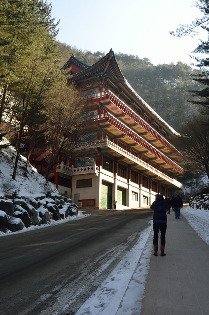 Winter in Guinsa - Korean 'sa' means Buddhist temple.