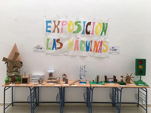 Exposición de máquinas 4ºA