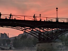Pont des Arts, sunset