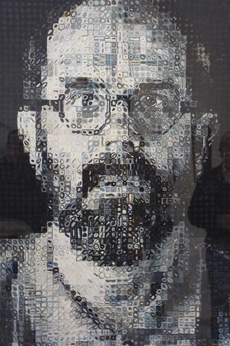 Chuck Close self portrait at Drents Museum