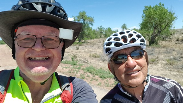 Thu, 05/31/2018 - 12:21 - Only guy I spoke to on the whole ride. Took a selfie to make sure I wasn't hallucinating from the heat