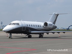 W B Air Two LLC Bombardier Challenger 600 (N2JW) at Schiphol East