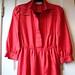 dress red leslie fay