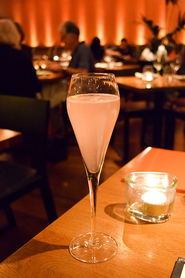 Rose Lychee Bellini at Roti Chai, Marylebone #indian #smallplates #marylebone #london