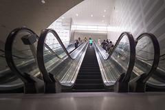 Detroit Metro Airport Escalator
