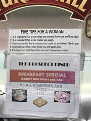 Five tips for a woman...