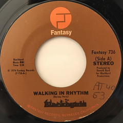 THE BLACKBYRDS:WALKIN IN RHYTHM(LABEL SIDE-A)