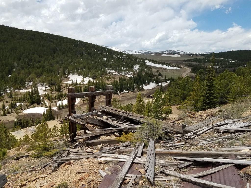 Mine equipment near Apex, Colorado.