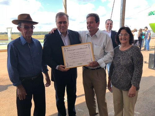 Paulo abi-Ackel 25/05/18 - inauguração da nova Estação de Tratamento de Esgoto - ETE, no município de Arcos
