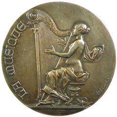HArp medal by Adolphe Rivet obverse