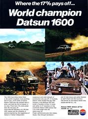 1970 Datsun 1600 Nissan  Aussie Original  Magazine Advertisement